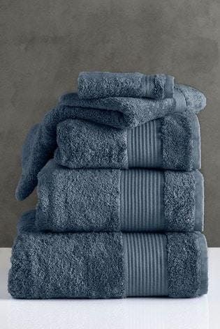 Maison Blue Egyptian Cotton Towels