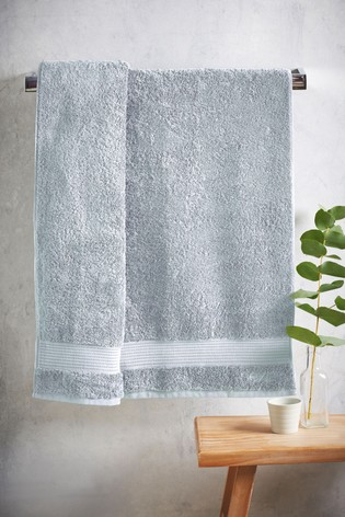 Frosted Blue Egyptian Cotton Towels