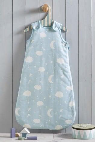 Blue Moon & Stars 2.5 Tog Sleep Bag