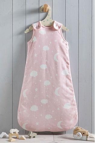 Pink Moon & Stars 2.5 Tog Sleep Bag