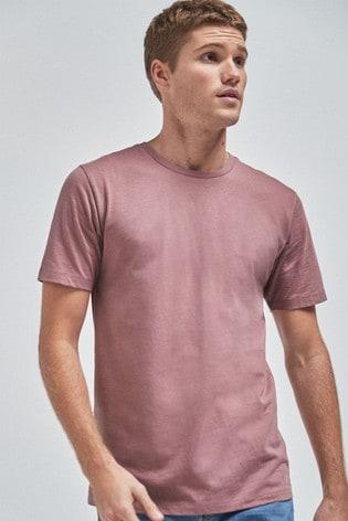 Dusky Pink Slim Fit Crew Neck T-Shirt