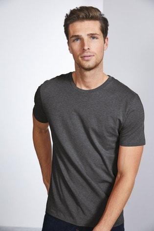 Charcoal Grey Marl Slim Fit Crew Neck T-Shirt