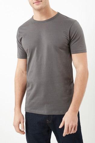 Charcoal Grey Slim Fit Crew Neck T-Shirt