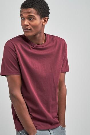Burgundy Red Regular Fit Crew Neck T-Shirt