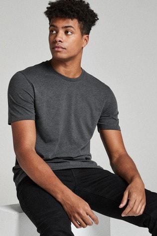 Charcoal Grey Marl Regular Fit Crew Neck T-Shirt