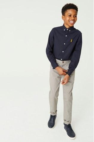 Grey Slim Fit Stretch Chino Trousers (3-16yrs)