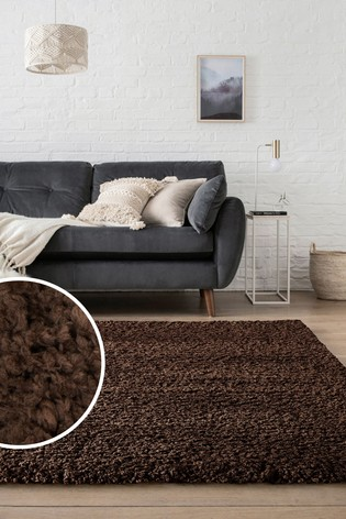 Chocolate Brown Whistler Extra Soft Shaggy Rug