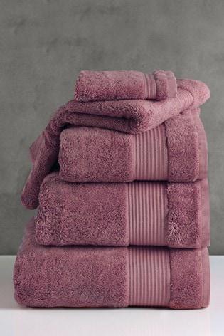 Damson Purple Egyptian Cotton Towels