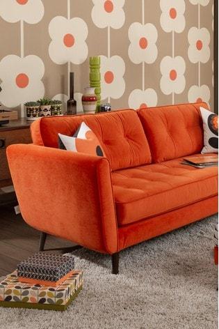 Orla Kiely Ivy Small Sofa with Walnut Feet