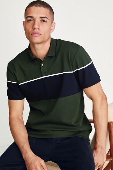 Olive Blocked Polo Shirt