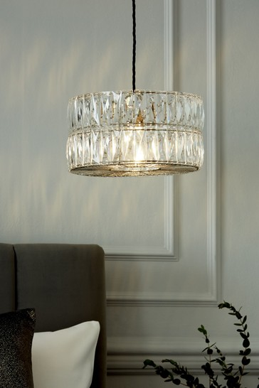 Clear Aria Easy Fit Lamp Shade