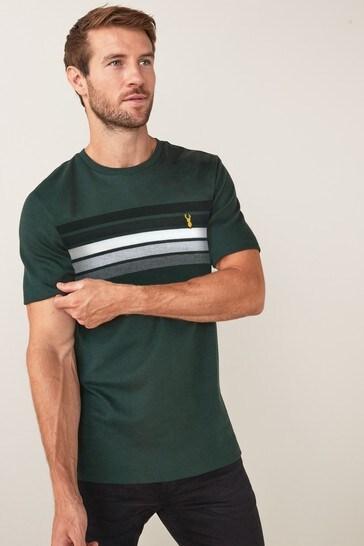 Green Block Soft Touch Regular Fit T-Shirt