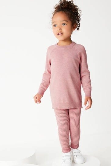 Pink Knitted Co-ord Set (3mths-7yrs)