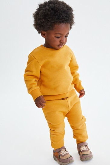 Ochre Yellow Crew and Joggers Jersey Set (3mths-7yrs)
