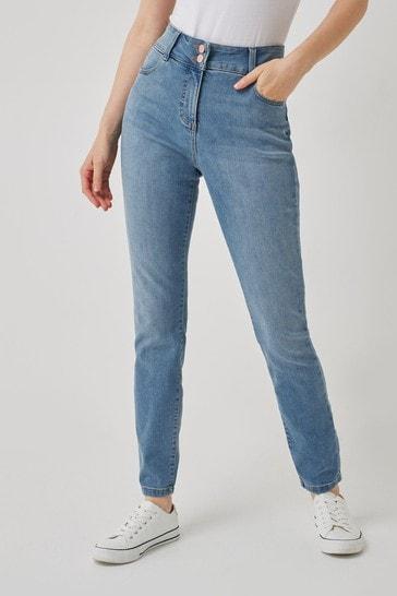 Mid Blue Enhancer Skinny Jeans