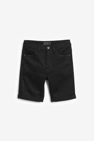 Black Loose Fit Denim Shorts (3mths-16yrs)