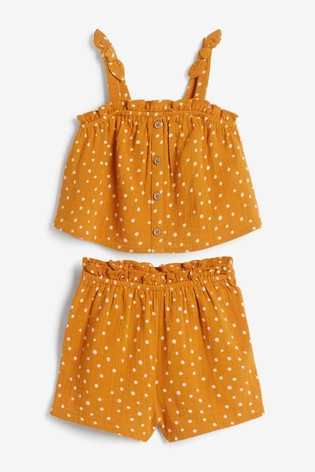 Multi Blouse And Shorts Co-ord Set (3mths-7yrs)