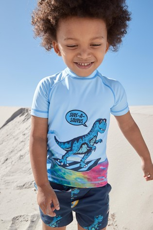 Surfing Dino Rash Vest And Shorts Set (3mths-7yrs)