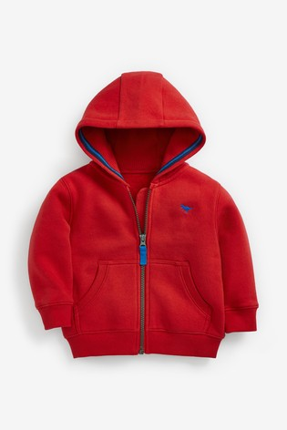 Red Essential Zip Through Hoodie (3mths-7yrs)