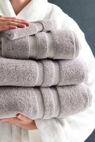 Dove Grey Luxury Pure Cotton Towel