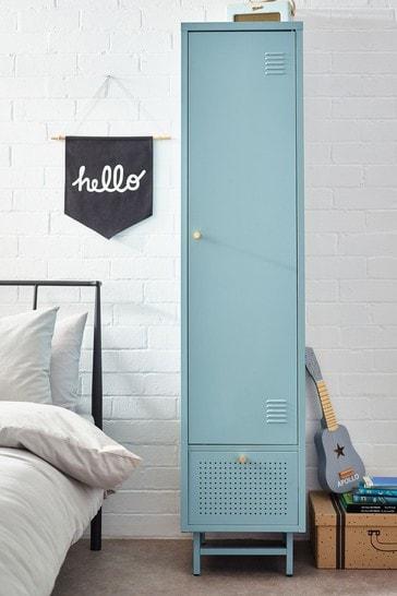 Blue Metal Locker Single Wardrobe