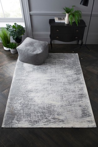 Grey Graphite Abstract Rug