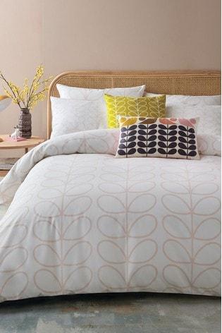 Orla Kiely Pink Cotton Linear Stem Duvet Cover