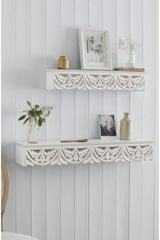 Carved Vintage Shelf