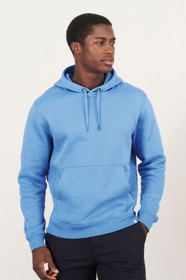 Pale Blue Plain Overhead Hoodie Jersey