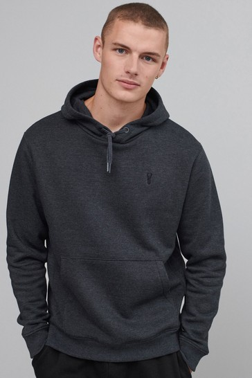 Charcoal Grey With Stag Overhead Hoodie Jersey