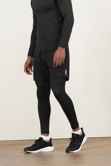 Black Next Active Gym & Running Shorts