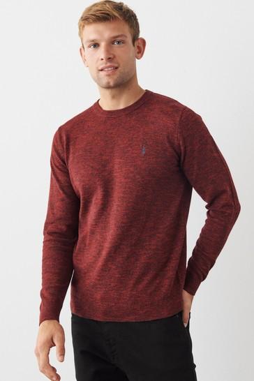 Burgundy Red Cotton Rich Marl Jumper