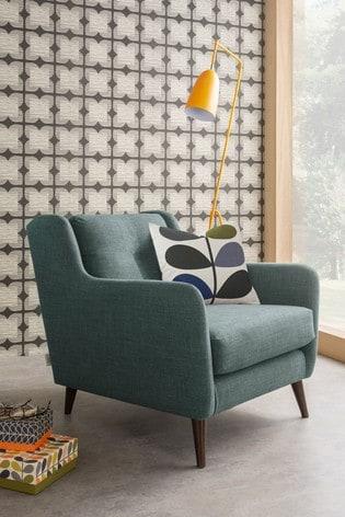 Orla Kiely Fern Snuggle Sofa with Walnut Feet