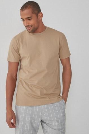 Sand Regular Fit Crew Neck T-Shirt