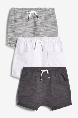 Monochrome 3 Pack Shorts (0mths-3yrs)