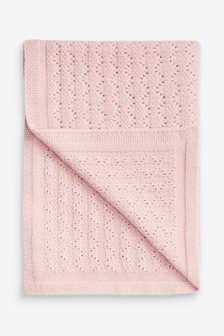 Pink Pointelle Blanket (Newborn)