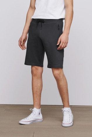 Slate Straight Fit Zip Pocket Jersey Shorts