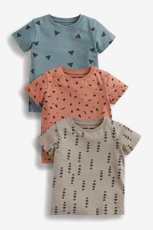 Mineral 3 Pack All Over Print T-Shirts (3mths-7yrs)