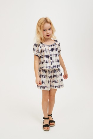 Tie Dye Printed Co-ord T-Shirt And Shorts (3-16yrs)