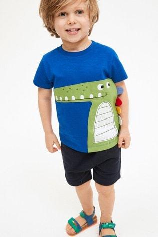 Crocodile Appliqué T-Shirt And Shorts Set (3mths-7yrs)