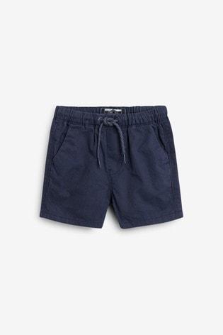 Navy Blue Pull-On Shorts (3mths-7yrs)