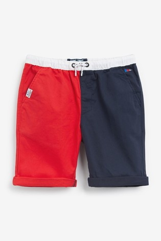 Red/Navy Pull-On Shorts (3mths-7yrs)