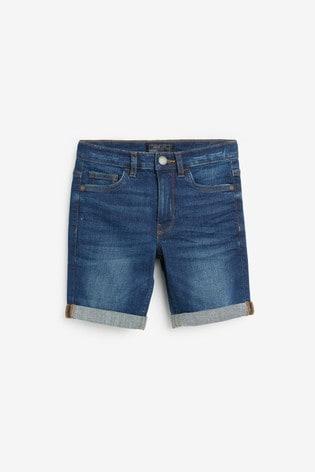 Blue Regular Fit Denim Shorts (3mths-16yrs)