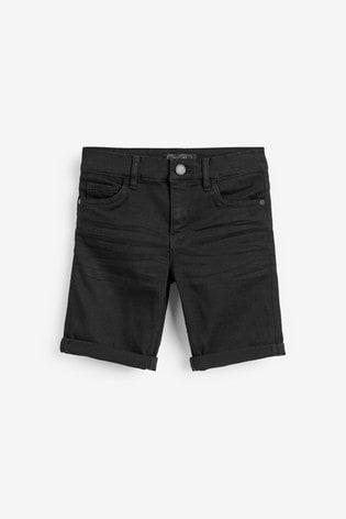 Black Regular Fit Denim Shorts (3mths-16yrs)