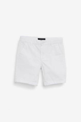 White Chino Shorts (3-16yrs)