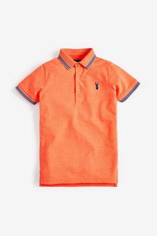 Fluro Orange Polo Shirt (3-16yrs)
