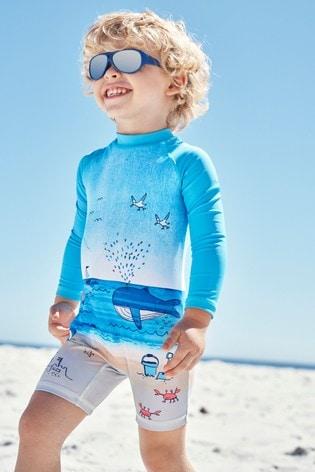Blue  Beach Scene Sunsafe Swimsuit (3mths-7yrs)
