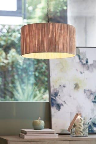 Natural Raffia Easy Fit Lamp Shade