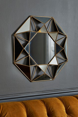 Faceted Small Mirror