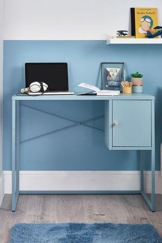 Blue Metal Locker Desk